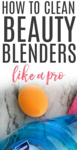 how to clean your beauty blenders