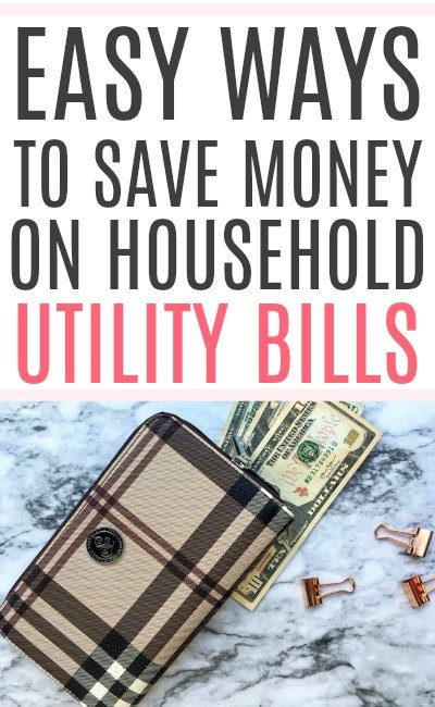 save money on household bills