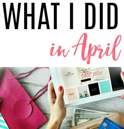 what i did in april