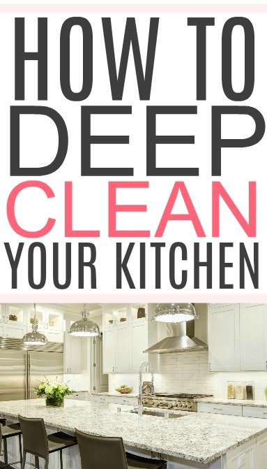 deep clean a kitchen