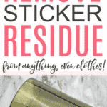 removing sticker residue
