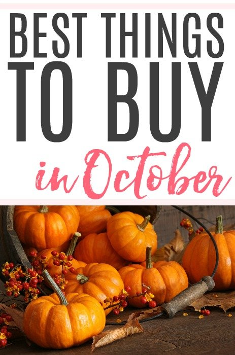 best things to buy in October