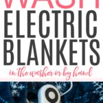 how to wash electric blankets