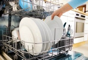 remove white film on dishes from dishwasher