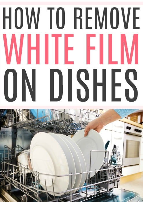 white film on dishes