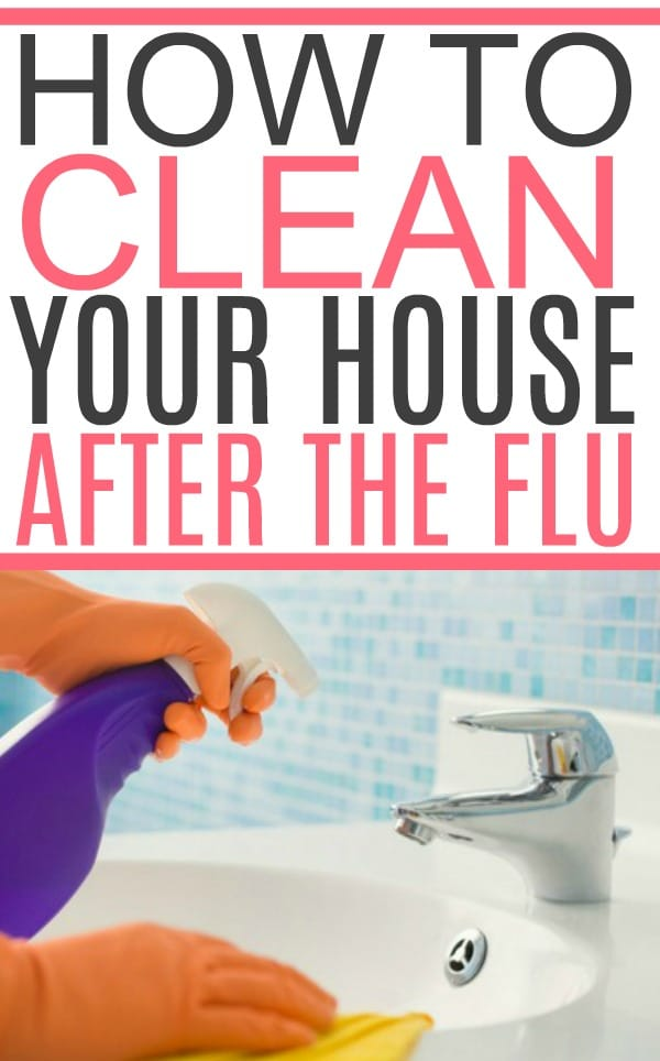 how to clean the house after the flu