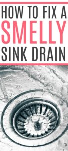 how to fix a smelly sink drain