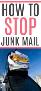 how to stop junk mail