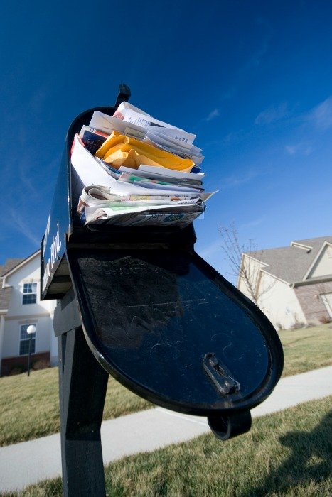 mailbox full of junk mail