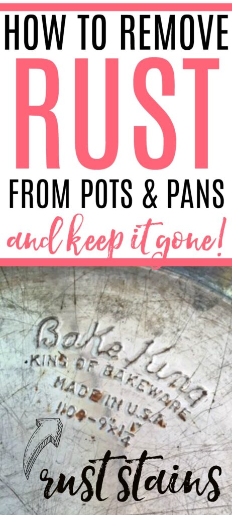 Don't throw out your pots and pans because of some rust. You can easily remove it. Check out how to remove rust from pots and pans.