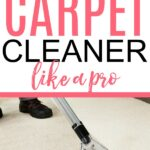 how to use a carpet cleaner like a pro