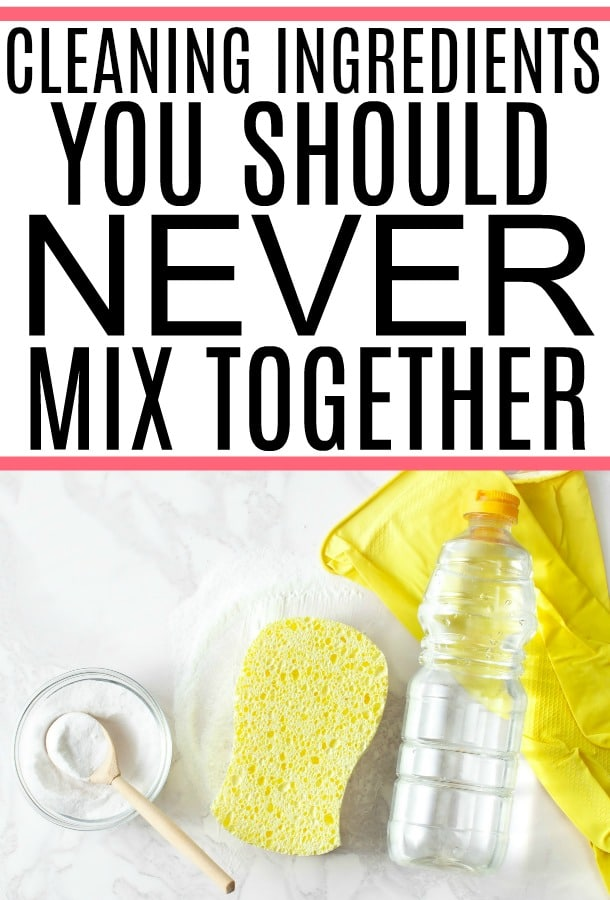 cleaning ingredients you should never mix