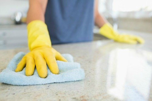 cleaning countertops