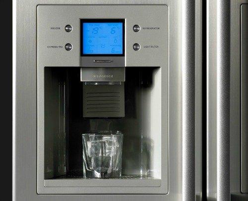 water dispenser on fridge