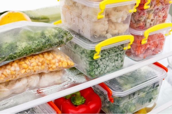 organized freezer using printable