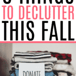 declutter for fall