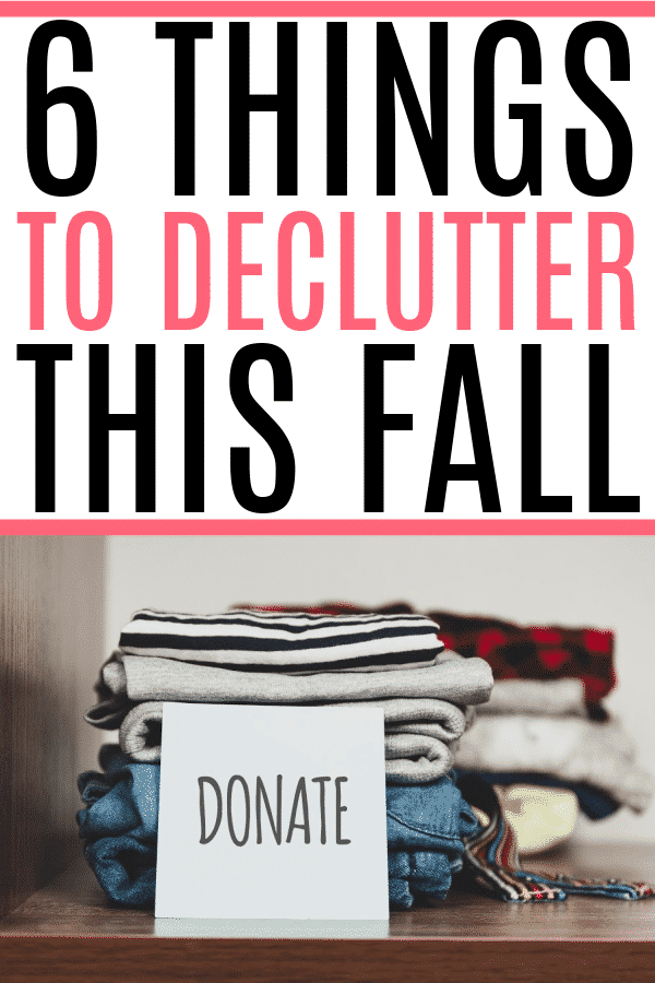 declutter this fall