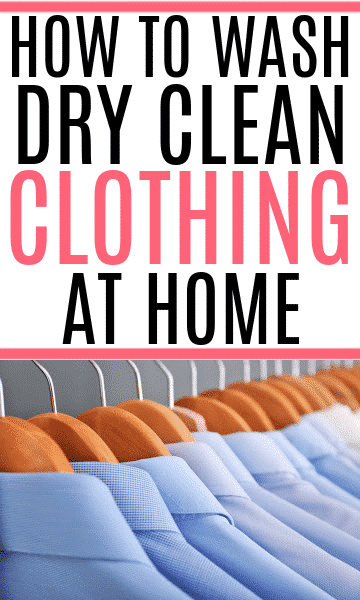 dry cleaning at home