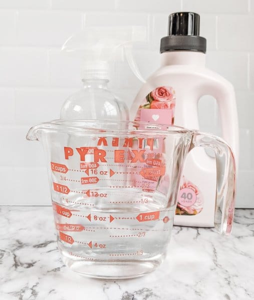 DIY wrinkle release spray
