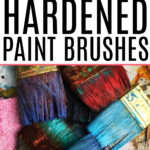 remove dried paint from brushes