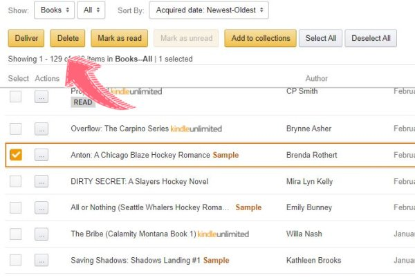 how to declutter your kindle samples